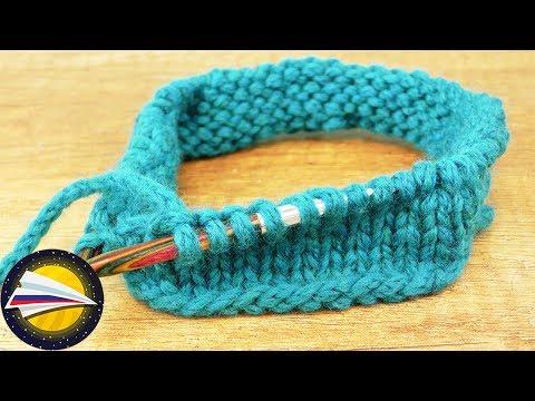 Вязание круговыми спицами | Вязание лицевыми петлями по кругу | Основы вязания для начинающих