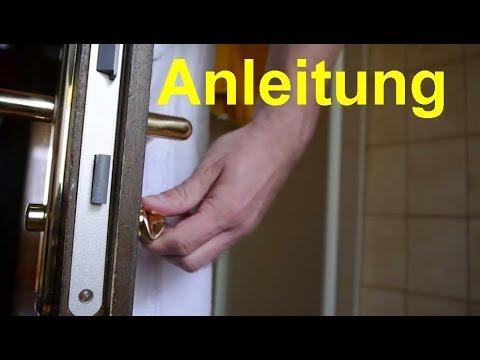 Neues Badezimmerschloss Vierkant einbauen Anleitung - YouTube