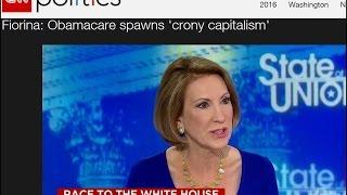 Carly Fiorina:  Obamacare Spawns Crony Capitalism