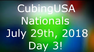 CubingUSA Nationals Day 3! (Finals!)