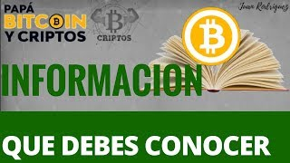 Bitcoin información que debes conocer | Libro Satoshi Nakamoto |