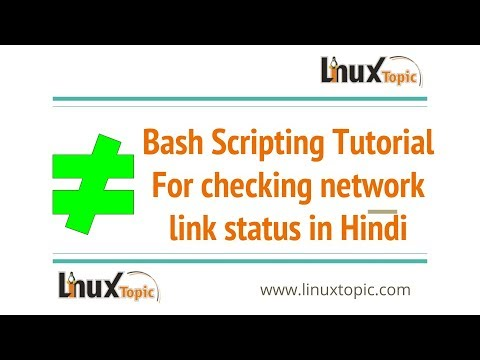 simple bash script tutorial for checking a interface link status in HINDI