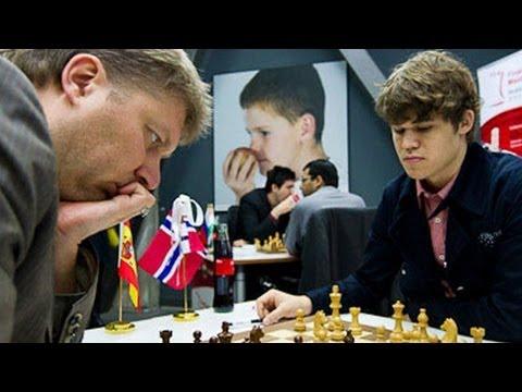 Magnus Carlsen vs. Alexei Shirov - Biel 2011 - Meran Defense Chess