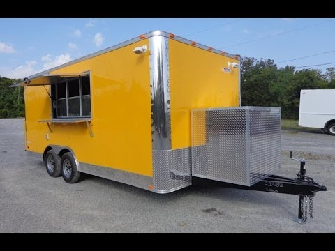 Yellow 8.5'x16' Concession Trailer Vending Food Catering