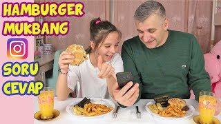 hamburger mukbang instagram soru cevap beyİn yakan komİk sorular eğlenceli Çocuk videosu