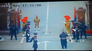 Wagha border india's insult, latest cctv footage
