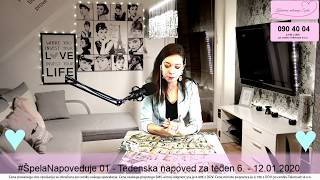 #ŠpelaNapoveduje 01 - Tedenska napoved za teden 6. - 12.01.2020