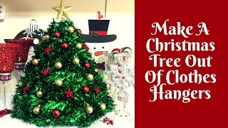 Christmas Crafts: How To Make A Christmas Tree Out Of Clothes Hangers