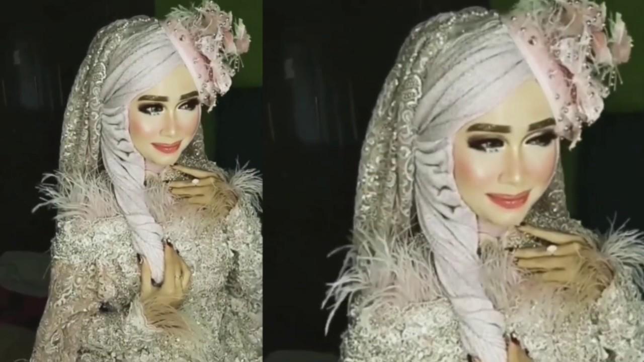 Tutorial Hijab Pengantin Ala Barbie By Khadijah Azzahra Super Cantik Youtube