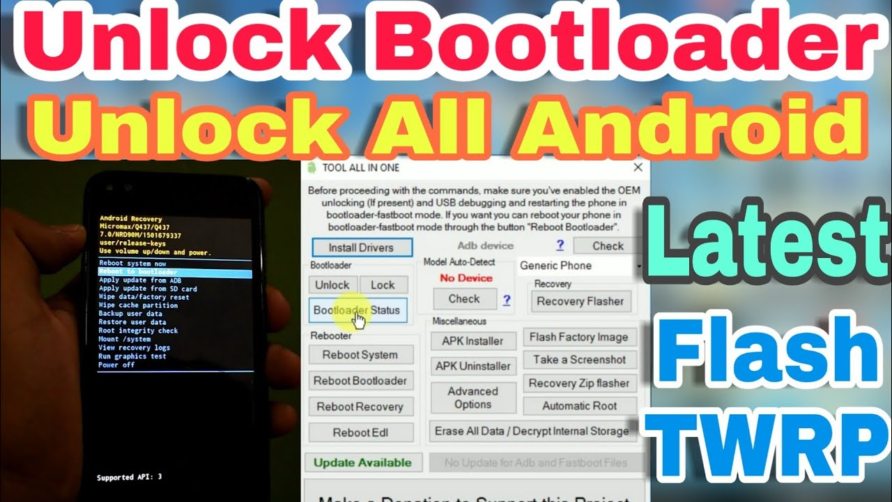 Unlock All Android Bootloader | Tool All In One