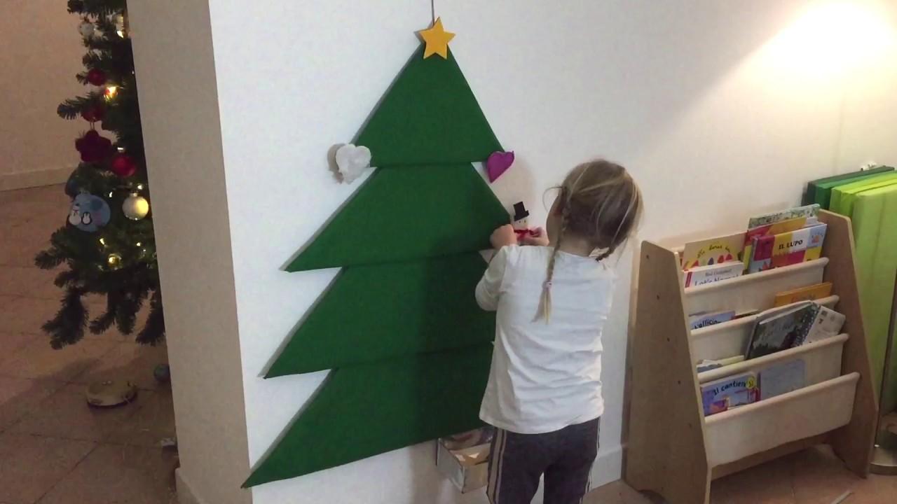 Alberi Di Natale In Legno Da Parete : Albero di natale in feltro da appendere tutorial youtube