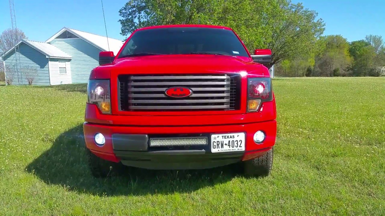 2013 ford f 150 fx4 leveled and lifted trucks edwards ford - Modded Batman 2012 Ford F150 Fx2 Leveled On 33 Tires Hids Projector Retro Light Bar Vht