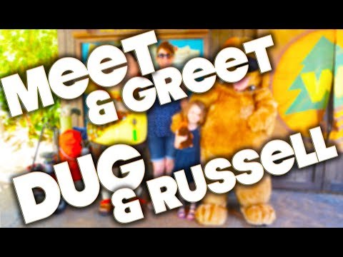 DISNEY CHARACTER MEET & GREET - RUSSELL & DUG - UP
