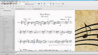 Star Wars sheet music for flute (new!)