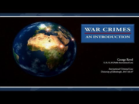 Revel Law Review - Introduction to War Crimes Law (2017)