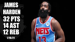 James Harden notches triple-double in Brooklyn Nets' debut [HIGHLIGHTS] | NBA on ESPN