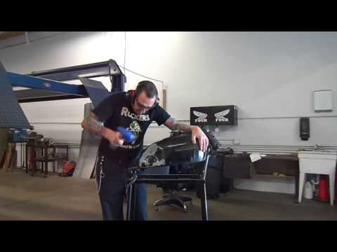 cafe racer making knee inserts