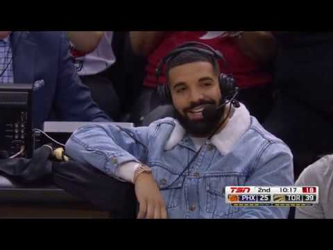Drake Takes Over Raptors Broadcast And Puts On A Show