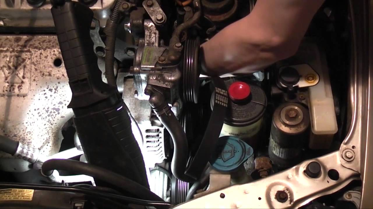 small resolution of honda accord alternator and power steering belt replacement