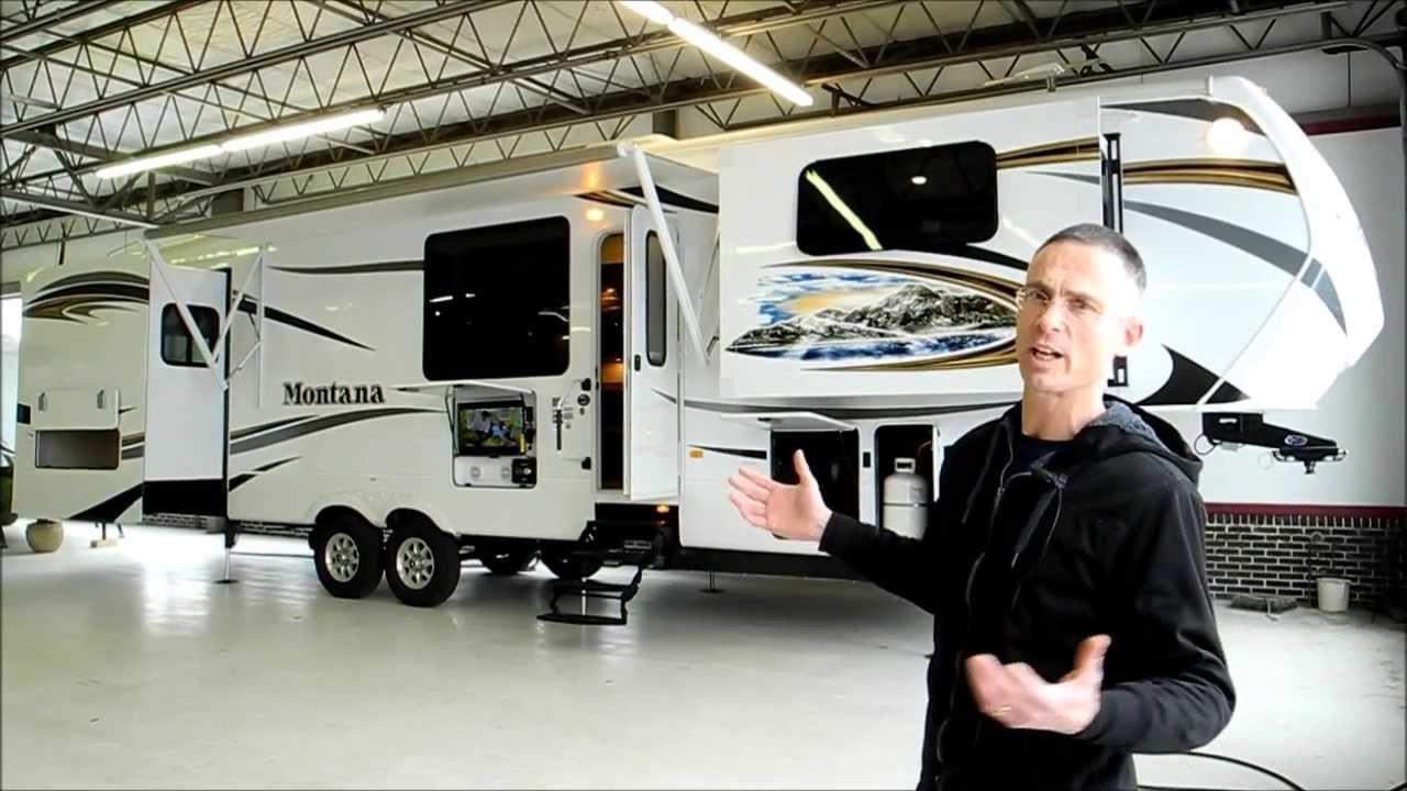 Fifth Wheel With Front Living Room Ceiling Fans For Rooms Sold I94rv Com 2014 Montana 3850fl Youtube Premium