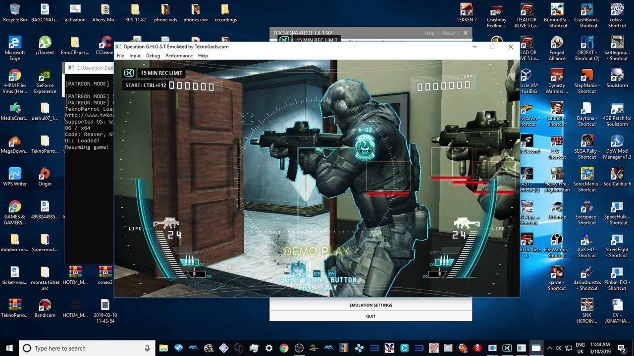 TEKNOPARROT 1 92 OPERATION GHOST - ATTRACT MODE - 2019 1080p 60fps