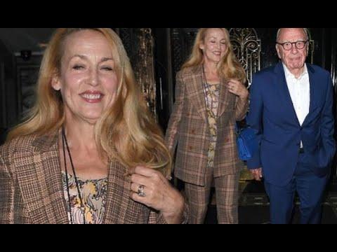 Jerry Hall, 61, Enjoys Date With Husband Rupert Murdoch, 87