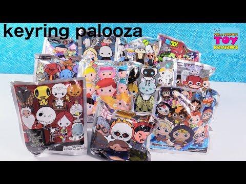 Figural Keyring Palooza Disney Cats Teen Titans Marvel Blind Bag Opening   PSToyReviews