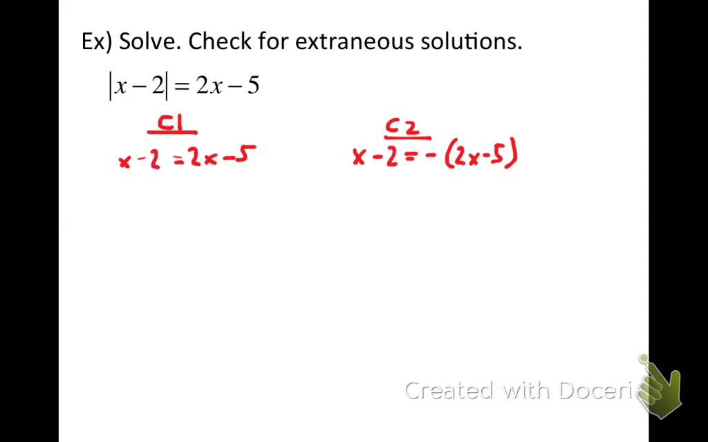 Solving Absolute Value Equations 2 Variables on Both Sides YouTube – Solve Equations with Variables on Both Sides Worksheet