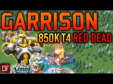 Garrison TRAP Takes 850,000 T4 To Their Graves! - Lords Mobile