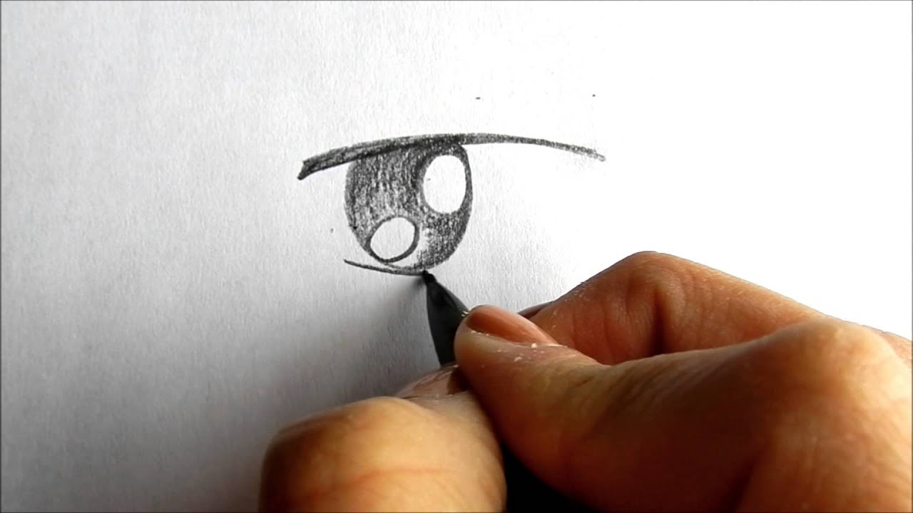 Drawing a simple boy anime manga eye