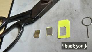 How to cut your SIM card with Scissor (Micro SIM, Nano SIM).Aion's point