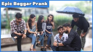Beggar with bodyguards prank on cute girls | RDS Production | Prank in India