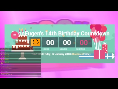 My 14th Birthday Countdown [TIME IS UTC+02:00]