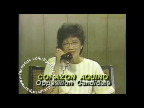 Ferdinand Marcos & Cory Aquino exclusive interview 1986