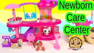 Puppy In My Pocket Newborn Baby Care Center Playset & Littlest Pet Shop Mom Babies Play