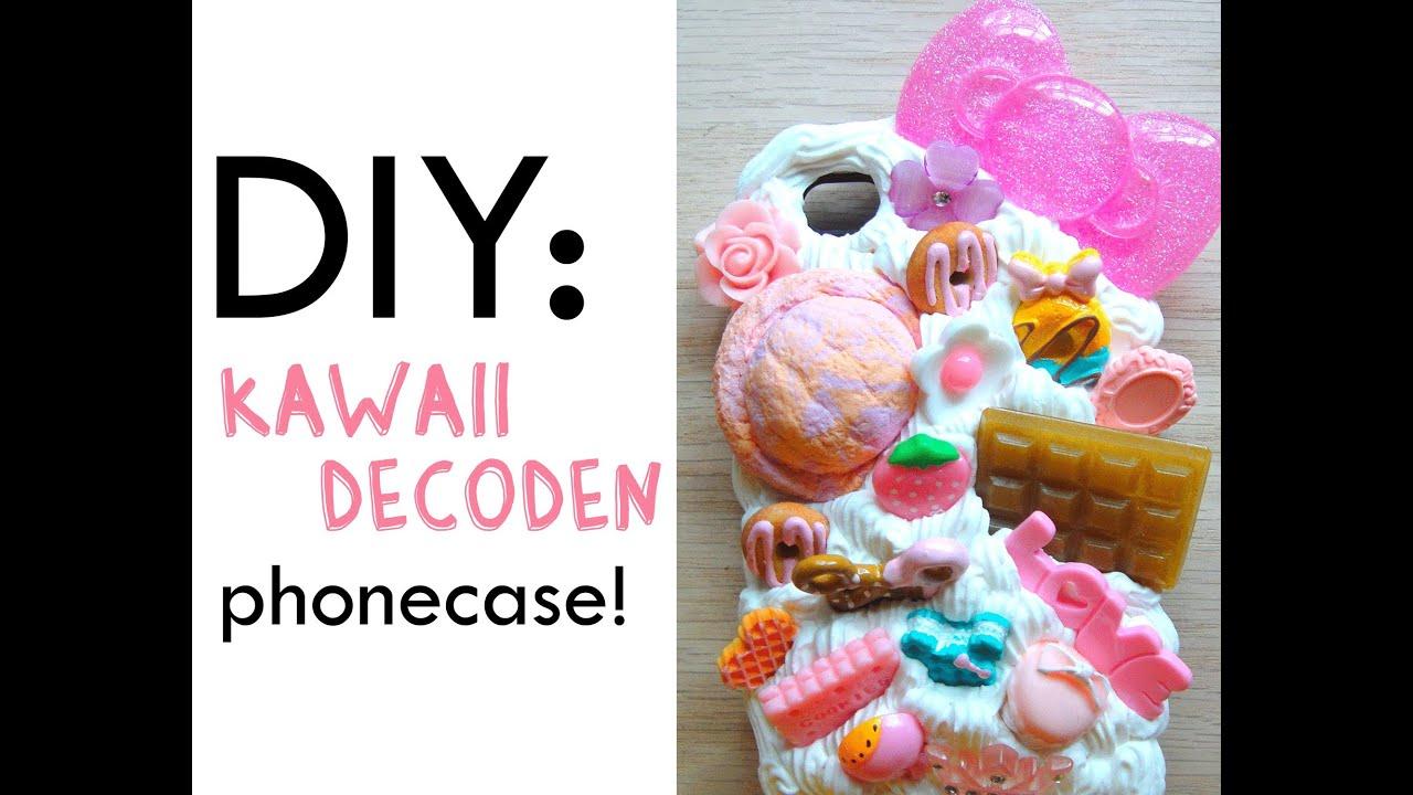 DIY Kawaii Decoden Phonecase - YouTube