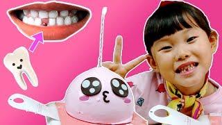 라임 생애 첫 치아를 뽑다! 치과 병원 놀이 &베스킨라빈스 아이스크림 케이크 먹방 LimeTube & Toy 라임튜브