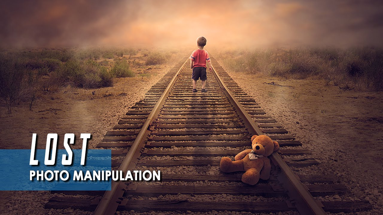 LOST - Photoshop Manipulation Tutorial - YouTube