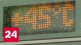 Смотреть видео Смертельный зной: плюс 40 в Европе станет нормой - Россия 24 онлайн