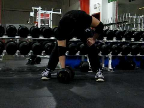 Adam Rose does Concentration Curls with 40lbs DB's!