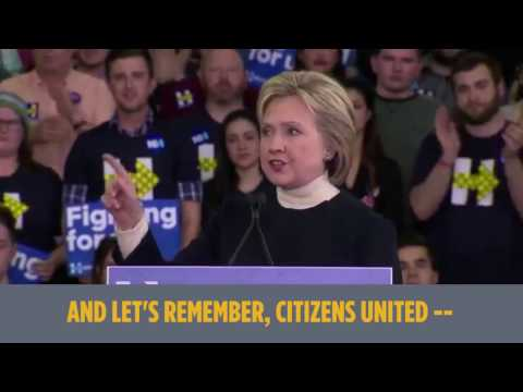 Hillary Clinton on campaign finance reform