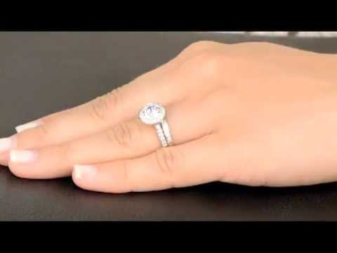 Nyeasias Round Cut Simulated Diamond Wedding Ring Set YouTube