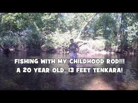 Fishing with a 20 YEAR OLD, 13FT ROD!!! Let's Do some TENKARA Fly Fishing! (Bethayres, PA)
