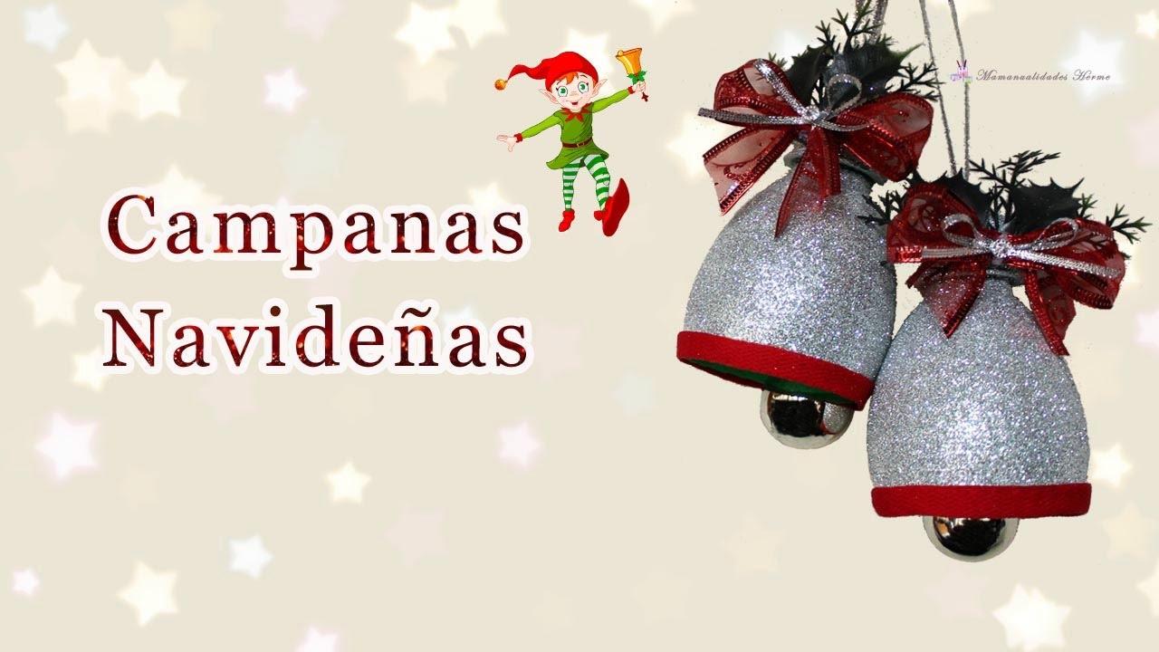 campanas navideas con botellas pet youtube - Campanas Navideas