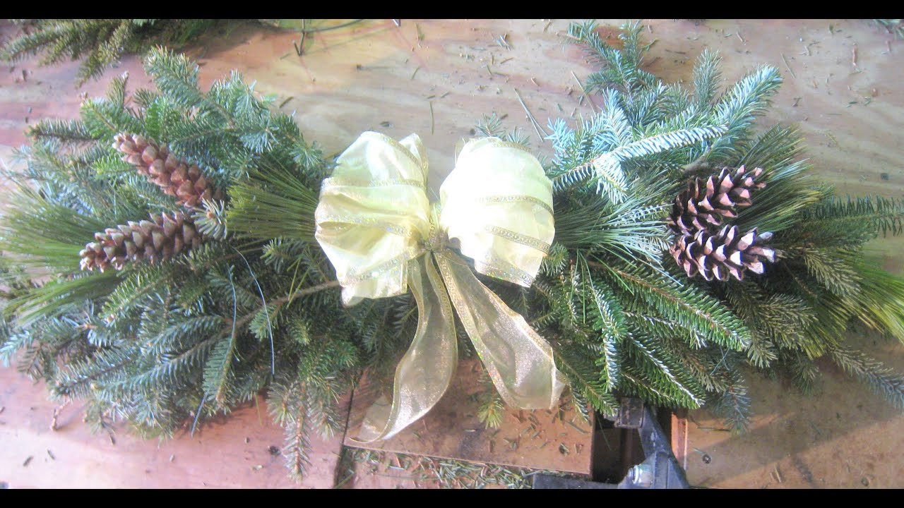how to make a swag christmas out of pine tree branches spruce cedar school fundriaser ideas youtube - Christmas Tree Branch Decorations