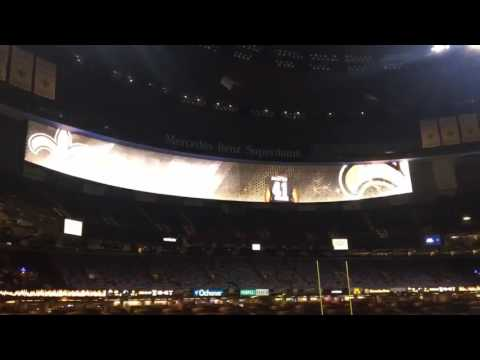 Saints unveil new end zone video boards at Superdome