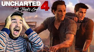 UNCHARTED 4 : GÄNSEHAUT STORY TRAILER MIT LIVE REAKTION !! [FACECAM]