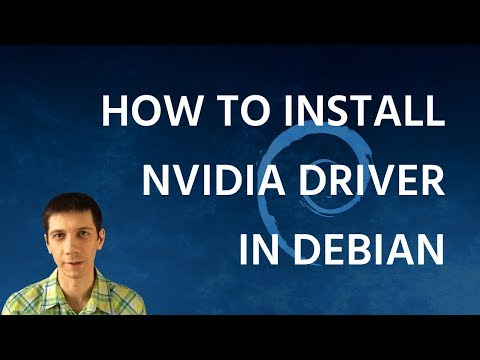 How to Install Nvidia Driver in Debian + XFCE fix - YouTube
