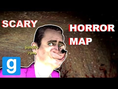 HORROR MAP WITH CREEPY FACES! - Garry's mod Horror Map Funny Moments