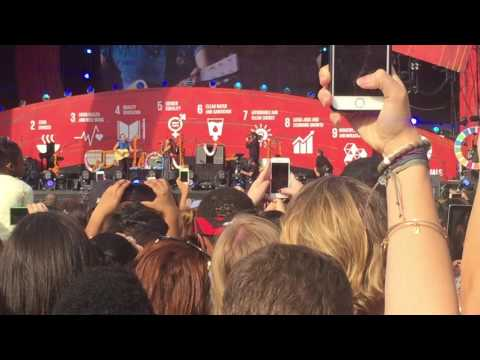 Coldplay and Ariana Grande- Just a Little Bit of Your Heart @Global Citizens Festival